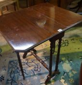 A Mahogany Sutherland Table, circa early 20th century, Raised on turned legs with castors, 68cm