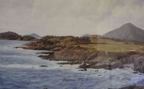"""The Shek O Golf Club Hong Kong"" Signed Limited Edition Print, signed in pencil, artist name"