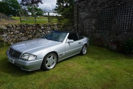 1991, Mercedes Benz 300 SL, Automatic, silver with black leather, gen 70,000 miles with history, off