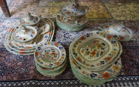 A Masons Pottery Dinner Set, to include tureens, ladles, serving dishes, plates and bowls, 48