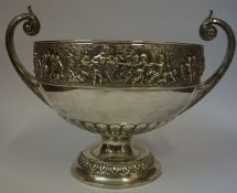 A Large Late Victorian Silver Two Handled Bowl, Hallmarks for Elkington & Co, Birmingham 1898,