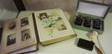 A Mixed Lot of Victorian and Later Collectables, To include a Victorian photo album, shooting stick,