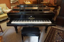 A Bluthner Aliquot Drawing Room Grand Piano, Stamped J.Bluthner Patent, no 57920, having an ebonised