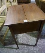 A Vintage Mahogany Sewing Table, Having two doors to the top, 72cm high, 41cm wide