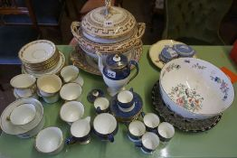 A Mixed Lot of Victorian and Later Pottery and China, To include a Victorian pottery tureen on