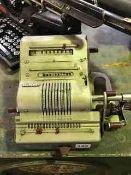 A Vintage Calculating Machine by Brunsviga, 15cm high