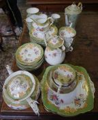 A Paragon Part China Tea Set, 31 pieces, also with a Plant Tuscan spiders web pattern 14 piece