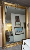 A Large Victorian Style Gilt Framed Mirror, 216cm high, 152cm wide