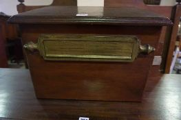 A Country House Style Mahogany Post Box, 30cm high, 44cm wide, 41cm deep