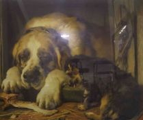 "After Edwin Landseer ""Doubtful Crumbs"" Print, 76.5cm x 93cm, framed"