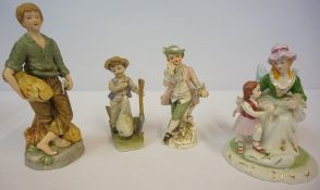 A Large Quantity of Sundry Pottery, China and Glass, to include figures, vases, wally dogs,
