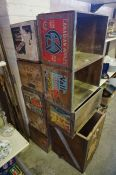 A Lot of Wooden Fruit and Wine Boxes / Crates, to include boxes for apples and oranges, Mateus