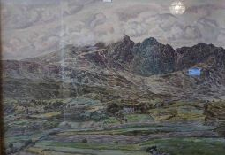 "J.N Gordon McVean (Scottish) ""Blaven Isle of Skye"" Oil on Canvas, signed to lower right, 70cm x"