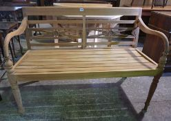 A New Teak 4ft Garden Bench, 86cm high, 120cm wide