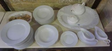 A Mixed Lot of Sundry Dinner Wares, to include plates, bowls, tea pot etc, approximately 37 pieces