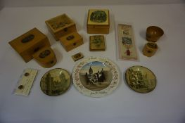 A Quantity of Collectables from the Edinburgh International Exhibition 1886, to include Mauchline