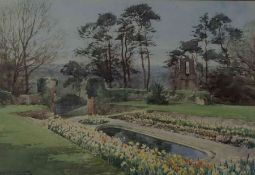 "Henry John Sylvester Stannard (1870-1951) ""Country Garden Scenes"" Watercolours, signed to lower"