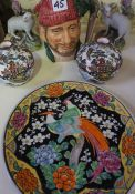 A Mixed Lot of China and Pottery, to include a pair of Staffordshire spill vases, modelled as sheep,