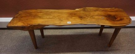 A Rustic Coffee Table, in the naturalistic style, 42cm high, 123cm wide, 34cm deep