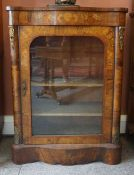 A French Walnut and Marquetry Inlaid Display Cabinet / Credenza, circa late 19th century, of