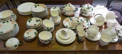 """A Villeroy & Boch """"Wild Rose"""" Pattern Dinner Set, to include tureens, approximately 70 pieces,"""