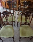 A Mahogany Four Piece Parlour Suite, circa early 20th century, Comprising of a pair of armchairs,