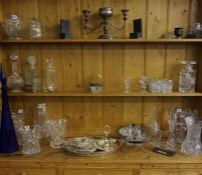 A Large Lot of Crystal and Glass Wares, to include a decanter with glasses by Bohemia, vases and