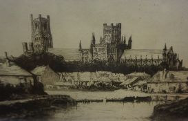 "Peter..... (British) ""Ely Cathedral"" Etching, signed indistinctly in pencil to lower right, 13.5cm x"