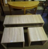 A Mixed Lot of Modern Furniture, Comprising of a demi lune side table, three matching coffee /