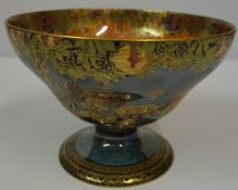 Designed by Daisy Makeig-Jones (1881-1945) Wedgwood Chinoiserie Pattern Lustre Pedestal Bowl,