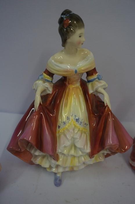 Lot 28 - Six Porcelain Figures by Royal Doulton, Comprising of Southern Belle HN 2229, Dinky Do HN 1678,