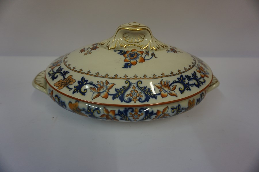 Lot 53 - Five Assorted Victorian Tureens by Merion Japan and Minton, also with three similar dishes, (8)