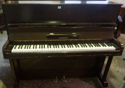 Upright Piano by Durand, Raised on castors, 115cm high, 138cm wide