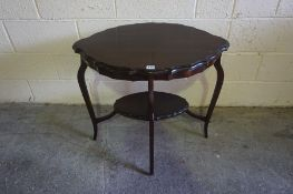 Edwardian Stained Wood Occasional Table, 70cm high, 75cm wide