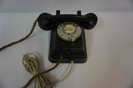 Bakelite Wall Mounting Telephone, circa 1920s-30s, number for Rugby 860 864, 13cm high