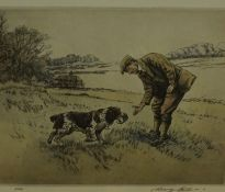 "Henry Wilkinson ""Farmer with Dog"" Two Similar Signed Limited Edition Colour Lithographs, no 6 and"
