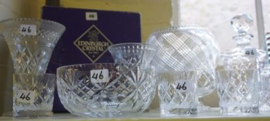 A Quantity of Crystal and Glass Wares, to include Edinburgh crystal, Murano clown figure, studio