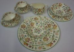 A Large Quantity of Minton Haddon Hall Tea and Dinner Wares, to include tureen, dinner plates,
