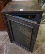Cast Iron Safe, with key, 62cm high, 47cm wide and deep