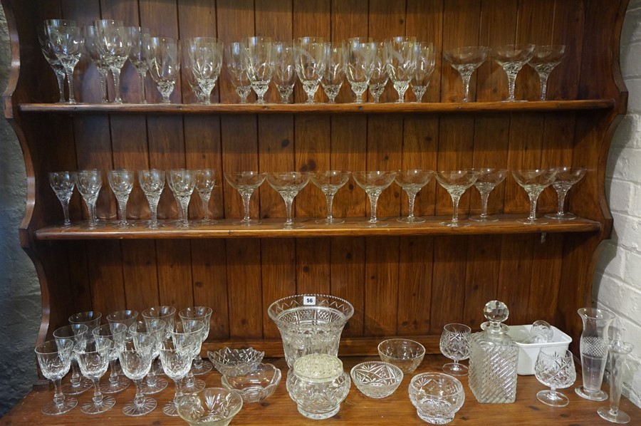 Lot 56 - A Large Quantity of Crystal and Glass, Approximately 60 pieces in total