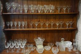 A Large Quantity of Crystal and Glass, Approximately 60 pieces in total