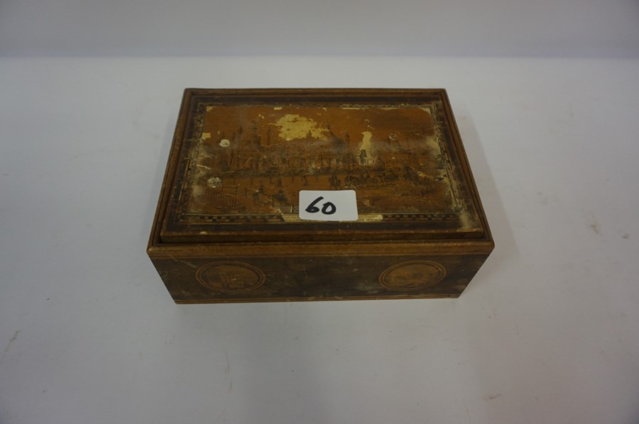 Lot 60 - A Mixed Lot of Wood Items, to include a walnut tea caddy, four drawer collectors chest, also with