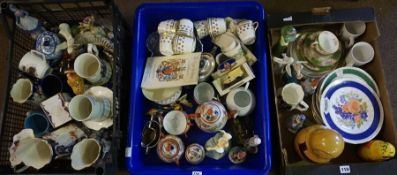 A Large Quantity of Sundry China and Bric a Brac, to include Victorian jugs, part tea sets etc,