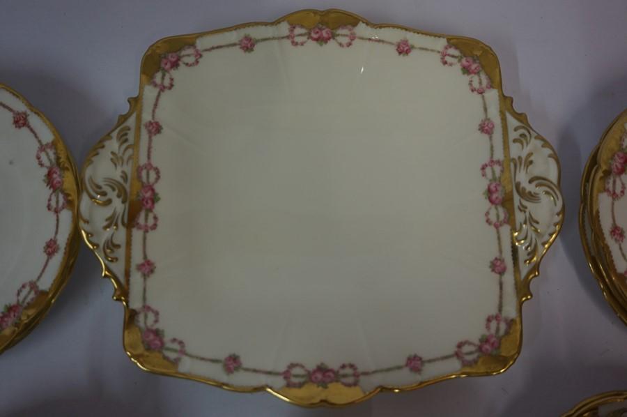 Lot 33 - Cauldon Porcelain Six Piece Tea Set, Having gilded decoration to rim, (20)