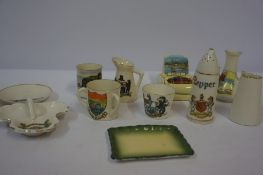 A Small Lot of Crested Wares, to include an example by Carlton, (12)