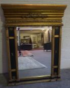 A Reproduction Gilt Painted Wall Mirror, 133cm high, 102cm wide