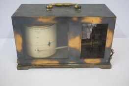 Barograph by Short & Mason London, circa early 20th century, with gilt metal carry handle, 15cm