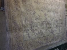 Malmaison Pattern Rug by Laura Ashley, Decorated with allover floral panels on a lilac ground,