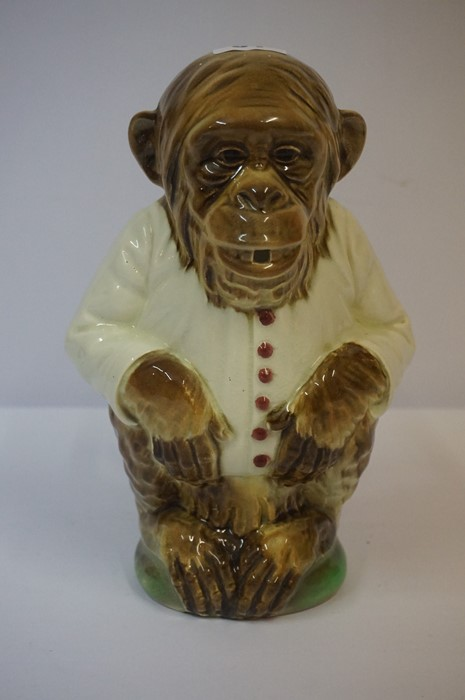 Lot 51 - A Majolica Monkey Jug by Keller & Guerin, stamped KG and no 435 to underside, 26cm high