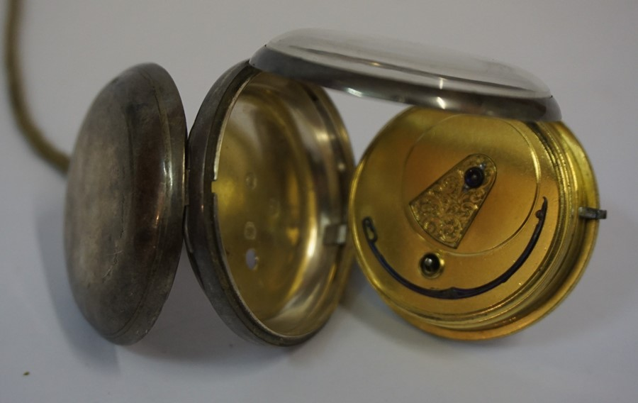 Lot 23 - Early Victorian Silver Open Faced Pocket Watch, Hallmarks for London, Having subsidiary seconds